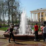 Fountain in Pushkin Public Garden