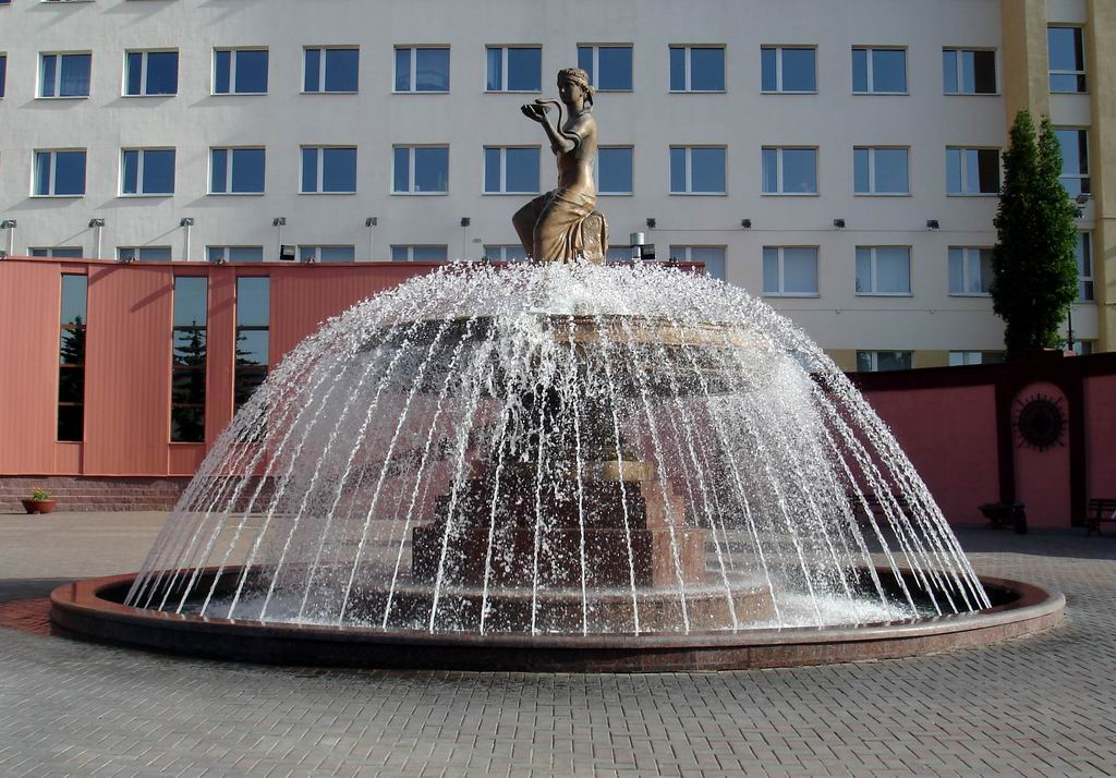 """Hygea – the Goddess of Health"" fountain: rainbow mood in Vitebsk."