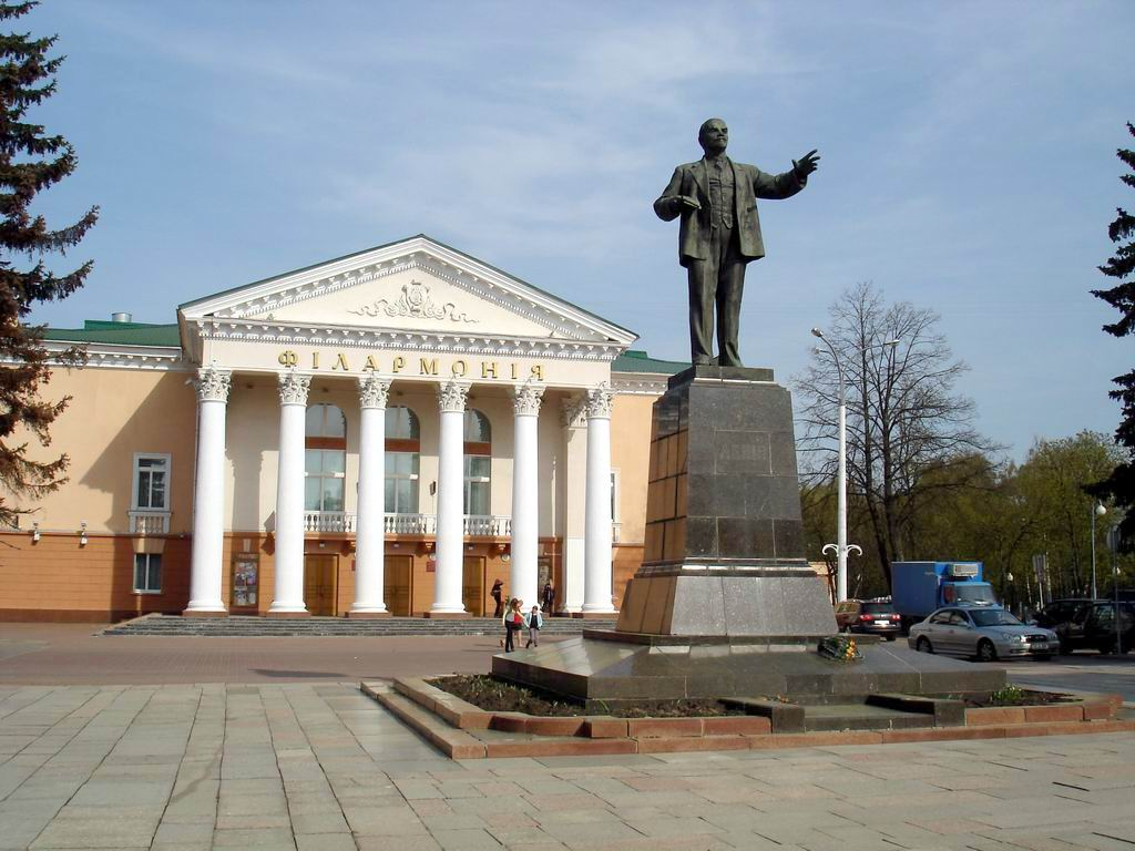 Lenin Square in Vitebsk.