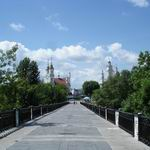 The Millennium Bridge: a picturesque corner of Vitebsk.