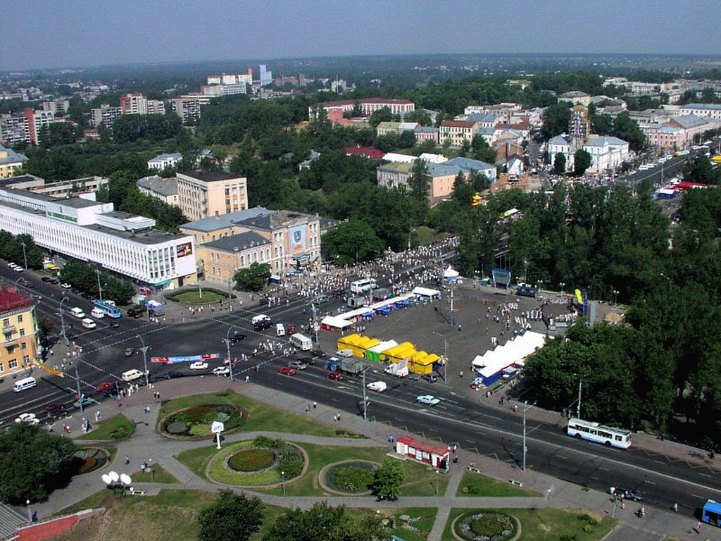 Liberty Square in Vitebsk.