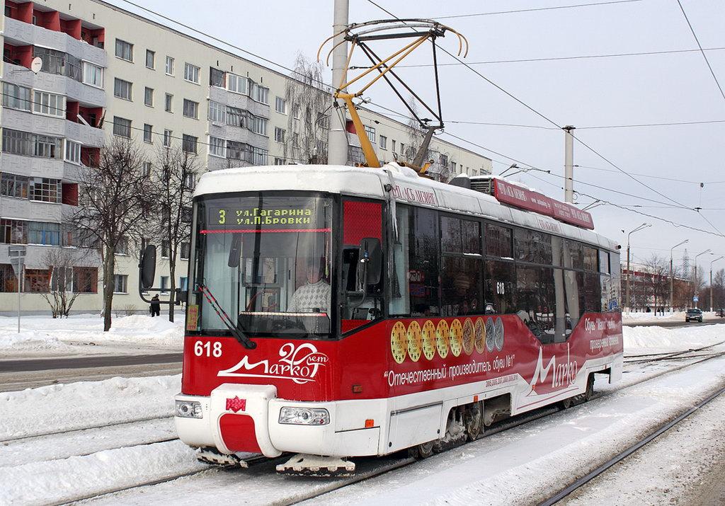 Движение трамваев в Витебске